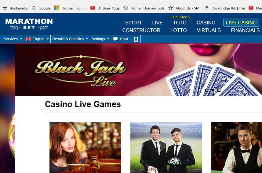 Live Casino Betting