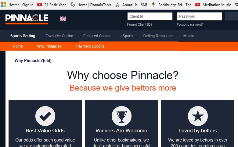 Pinnacle sports betting approved sassuolo vs frosinone betting expert football